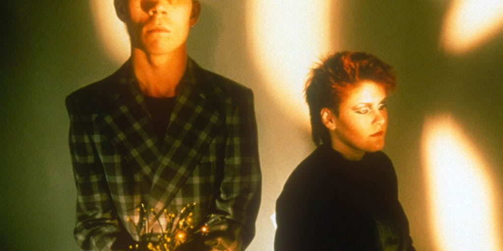 Alison Moyet and Vince Clark in a Black and White Photo